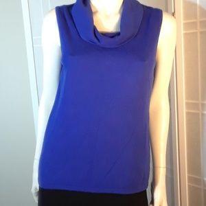 Chico's royal blue cowel neck sweater M